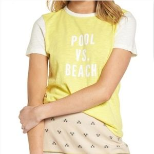 madewell tshirt yellow size small